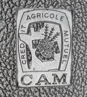 PORTE DOCUMENTS Pochette Rigide Plastique - Publicité CAM CREDIT AGRICOLE MUTUEL - 24x32 Cm Environ-Bon état-année 1960 - Advertising