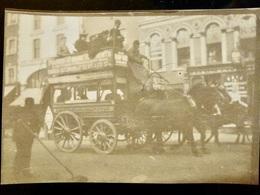 PHOTO ORIGINALE _ VINTAGE SNAPSHOT Circa 1890 : Attelage _ Cheval Chevaux - Transport En Commun - Oud (voor 1900)