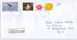 2020 , MOLDOVA ,  MOLDAVIE ,  MOLDAWIEN  , Flowers ,Birds , Painting , Used  Cover - Moldawien (Moldau)