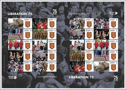 Jersey 2020, WWII, 75th Liberation, Car, Uniforms, Commemorative Sheetlet - Guerre Mondiale (Seconde)