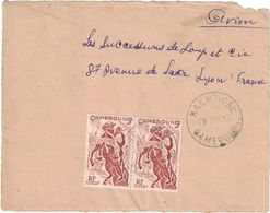 Cameroun - Nachtigal - Devant De Lettre Du 19 Janvier 1952 - Par Avion - Cameroun (1960-...)