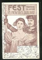 Künstler-AK Nürnberg, Fest Im Herkules Saalbau 20.1.1900 - Nuernberg