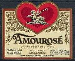 THEME PERSONNAGES étiquette De Vin DE TABLE / ANGE COEUR - Cuori