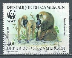 Cameroun YT N°823 Singe Babouin WWF Oblitéré ° - Cameroun (1960-...)