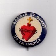 Broche épingle Porte-bonheur De Poilu Espoir Et Salut De La France. Sacré Coeur - Militaria