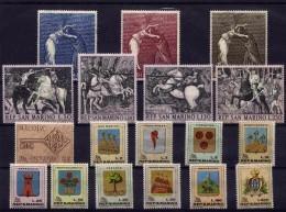 SAN MARINO - 1968 - Annata Completa - 18 Valori - Year Complete ** MNH/VF - Saint-Marin