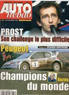 Auto Hebdo 2001 Alain Prost Bourdais Richard Burns Luc Alphand Marcus Grönholm Auriol - Sport