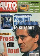 Auto Hebdo 2001 Alain Prost Lotus Jos Verstappen Ken Tyrrell Marcus Grönholm Harri Rovanpera - Sport