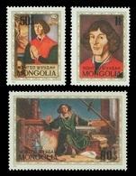 Mongolia 1973 Mih. 774/76 Astronomer Nicolaus Copernicus MNH ** - Mongolie