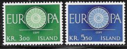Iceland Scott # 327-8 MNH Europa, 1960 - 1944-... Republic