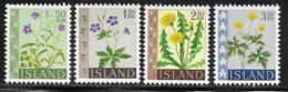 Iceland Scott # 329-32 MNH Flowers, 1960-2 - 1944-... Republic