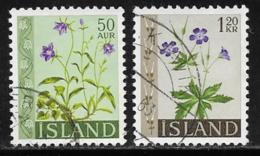 Iceland Scott # 329-30 Used Flowers, 1960-2 - 1944-... Republic