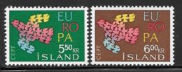 Iceland Scott # 340-1 MNH Europa, 1961 - 1944-... Republique