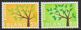 Iceland Scott # 348-9 MNH Europa, 1962 - 1944-... Republic