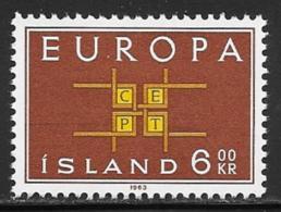 Iceland Scott # 357 MNH Europa, 1963 - 1944-... Republic