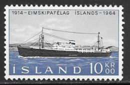 Iceland Scott # 359 MNH Ship, 1964 - 1944-... Republic