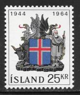Iceland Scott # 362 MNH Coat Of Arms, 1964 - 1944-... Republic