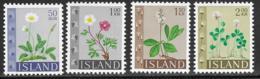 Iceland Scott # 363-6 MNH Flowers, 1964 - 1944-... Republic