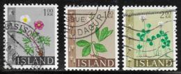 Iceland Scott # 364-6 Used Flowers, 1964 - 1944-... Republic