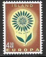 Iceland Scott # 367 MNH Europa, 1964 - 1944-... Republic