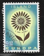 Iceland Scott # 368 Used Europa, 1964 - 1944-... Republic