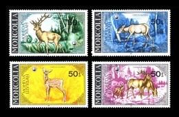 Mongolia 1985 Mih. 1690/93 Fauna. Deer MNH ** - Mongolie