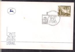 Israel - 1978 - FDC - Postmark Jerusalem - Special Cover - Timbre Aqueduct Near AKKO - Cygnus - Israel