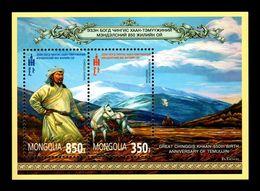 Mongolia 2012 Mih. 3854/55 (Bl.409) Chinggis Khaan MNH ** - Mongolie