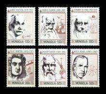 Mongolia 2014 Mih. 3895/900 Famous Scientists. Einstein. Darwin. Da Vinci. Newton. Galilei. Bohr MNH ** - Mongolie