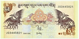 Bhutan - 5 Ngultrum - 2006 - Unc. - Pick 28.a -  Serie J - Bhoutan