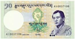 Bhutan - 10 Ngultrum - 2006 - Unc. - Pick 29.a -  Serie K - Bhoutan
