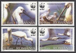 2006Romania6134-6137WWF / Birds - W.W.F.