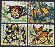1988Mexico2095-2098WWF / Butterflies10,00 € - W.W.F.