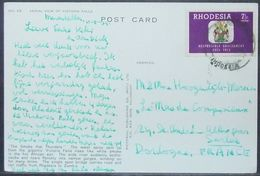 Rhodesia - Postcard To France 1973 Coat Of Arms 7 1/2c Solo - Rhodesia (1964-1980)