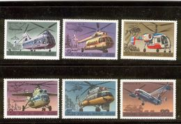 USSR/RUSSIA 1980 Helicopters; Scott Catalogue No(s). 4828-4833 MNH - Elicotteri