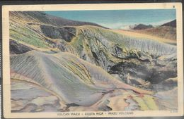 Costa Rica 1952 Irazu Volcano Post Card Used - Costa Rica
