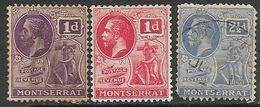 Montserrat   1922-9   Sc#56 Used, 57 MH, 62 Used 2016 Scott Value $19.80 - Montserrat