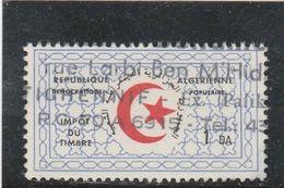 ALGERIE IMPOT DU TIMBRE OBLITERE - Algerije (1962-...)