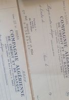 Lots De Chèques Vides Année 1958 Compagnie Algerienne De Credit Et De Banque Sans Griffe Française - Chèques & Chèques De Voyage