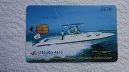 MALDIVES   USED CARDS  SHIPS BOATS - Bateaux