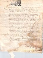 Cachet Généralité 1699 Sur Parchemin 4 Pages Rouen - Cachets Généralité