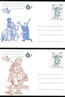 11182331 Belgique 19821211 Belgica 82; Histoire De La Poste; 6 Entiers, Cartes Postales Illustrées Cob BK28-33 - Stamped Stationery