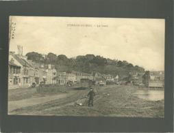 22 Perros-guirec La Gare  édit. Guillou à Lannion  Rare  Chemin De Fer Train Tramway - Perros-Guirec