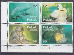 1993Palau606-609VBWWF / Sea Fauna8,00 € - W.W.F.