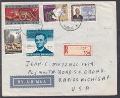 Ca5208 RWANDA 1965, Mixed Stamps On Registered Ruhengeri  Cover To USA - Rwanda