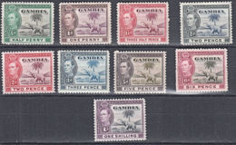 D0027  GAMBIA 1938,  KGVI Definitives, Mounted Mint - Gambia (...-1964)