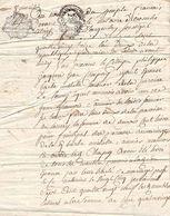 2 Cachet Généralité Alençon Minute Papier Manuscrit Ancien 1793 ? Sols ? Deniers - Cachets Généralité