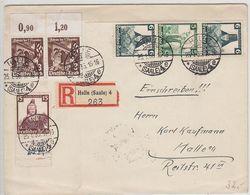 Deutsches Reich R-Brief Mit Trachten ZD-Frankatur+AKs - Alemania