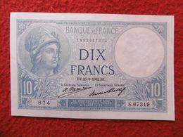 BILLET 10 FRANCS MINERVE SERIE BY .25 = 8  1932 . BY - 1871-1952 Antichi Franchi Circolanti Nel XX Secolo