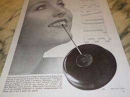 ANCIENNE PUBLICITE ECLAT DES DENT PATE DENTIFRICE GIBBS 1933 - Parfum & Kosmetik